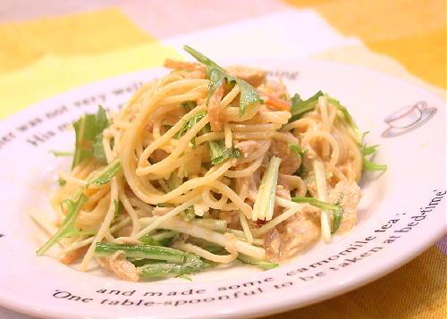 ピリ辛ツナスパゲティサラダレシピ