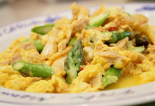 キムチとツナのスクランブルエッグレシピ