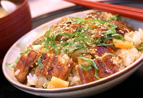 大根キムチとうなぎの混ぜご飯レシピ