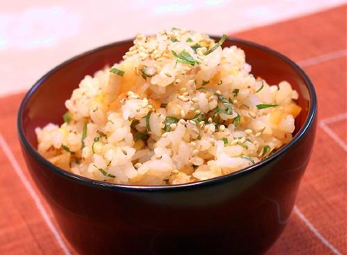 天かすキムチのサクサク混ぜご飯レシピ