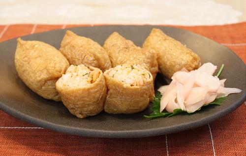 今日のキムチ料理レシピ:割干しキムチのおいなりさん