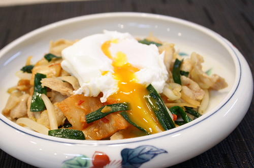 野菜たっぷり豚キムチレシピ