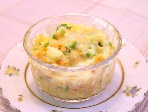 ゆで卵とキムチのチーズ焼き