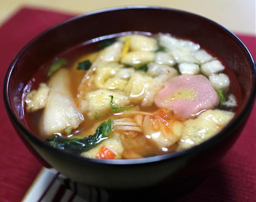今日のキムチ料理レシピ:今年の雑煮