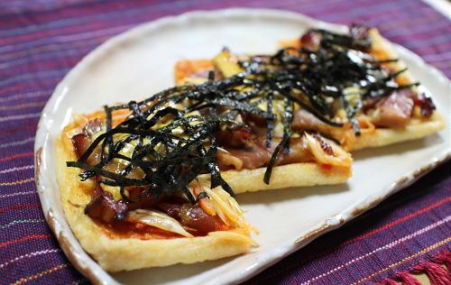 今日のキムチ料理レシピ:油揚げのピリ辛チャーシュー焼き