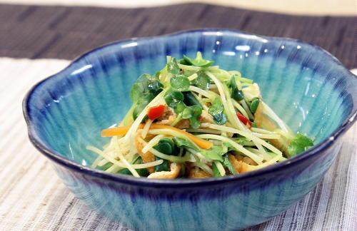 油揚げと貝割れのピリ辛煮レシピ