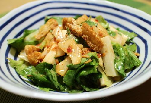 今日のキムチレシピ:油揚げのキムチサラダ