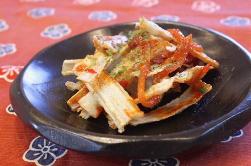 揚げごぼうのキムチ和えレシピ