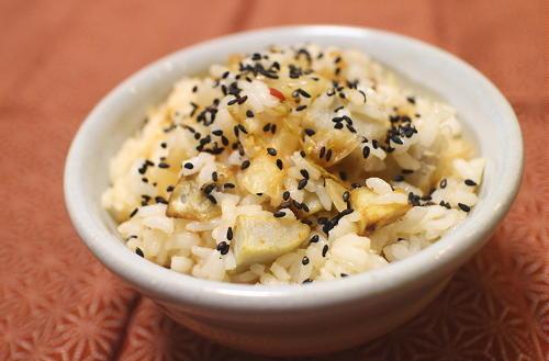 今日のキムチレシピ:揚げ里芋とキムチの混ぜご飯