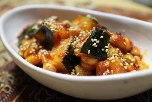 大豆とかぼちゃの甘辛炒めレシピ