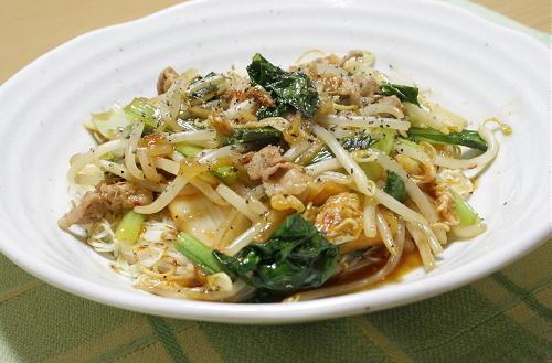 今日のキムチ料理レシピ:キムチあんかけ堅焼き素麺