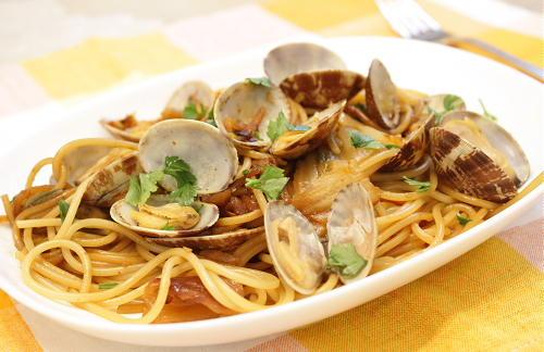 今日のキムチ料理レシピ:アサリキムチスパゲティ