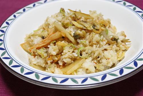 今日のキムチ料理レシピ:あさりキムチ炒飯