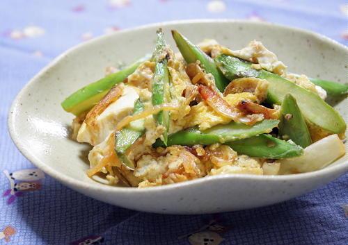 今日のキムチ料理レシピ:アスパラとキムチのチャンプルー