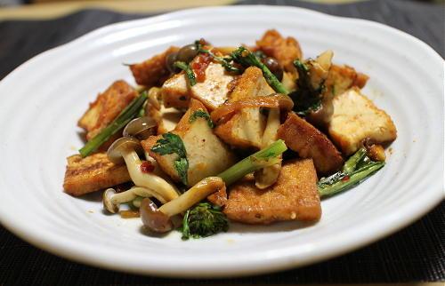 今日のキムチ料理レシピ:厚揚げの甘辛炒め