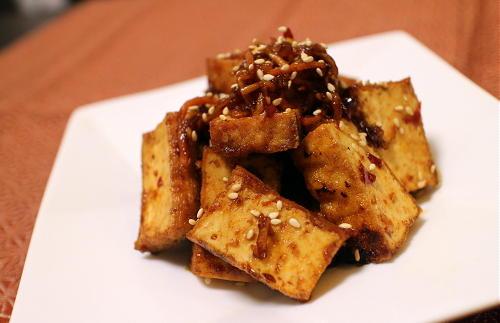 今日のキムチ料理レシピ:厚揚げ甘辛和え