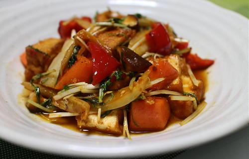 今日のキムチレシピ:厚揚げとキムチの甘酢炒め