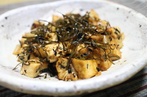 今日のキムチレシピ:厚揚げと昆布のキムチ炒め