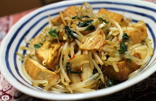 今日のキムチレシピ:厚揚げとキムチのオイスターソース炒め