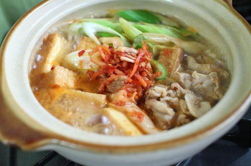 今日のキムチ料理レシピ:厚揚げキムチ肉豆腐