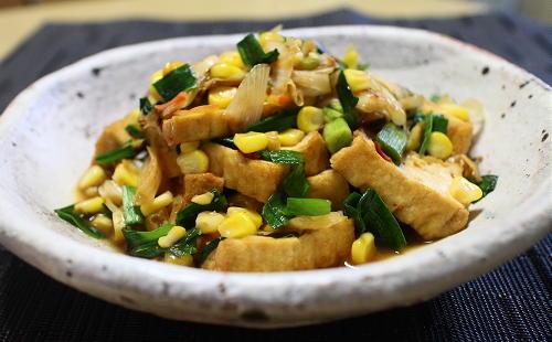 今日のキムチレシピ:厚揚げのキムチオイスター煮