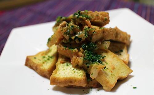 今日のキムチレシピ:厚揚げのキムチ酢味噌和え