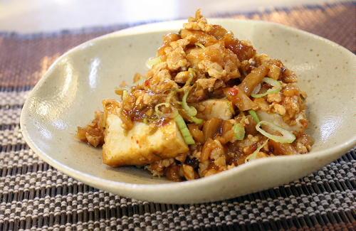 今日のキムチ料理レシピ: 厚揚げのキムチひき肉炒め