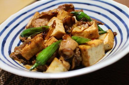 今日のキムチレシピ:厚揚げと豚肉のキムチ炒め