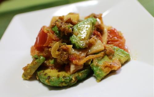 今日のキムチレシピ:アボカドとトマトとキムチのパン粉焼き