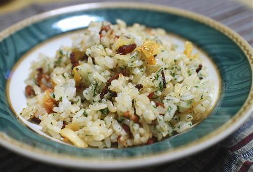 今日のキムチレシピ:ベーコンキムチご飯