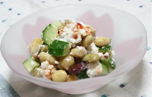 今日のキムチ料理レシピ:ミックスビーンズとキムチらっきょうのサラダ