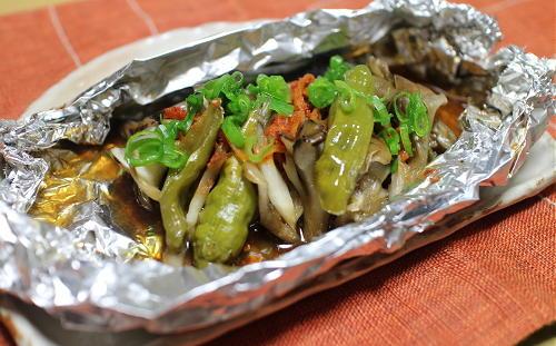 今日のキムチ料理レシピ:ぶりのピリ辛ホイル焼き
