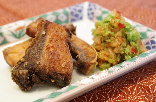 今日のキムチ料理レシピ:ぶりのから揚げキムチおろし添え
