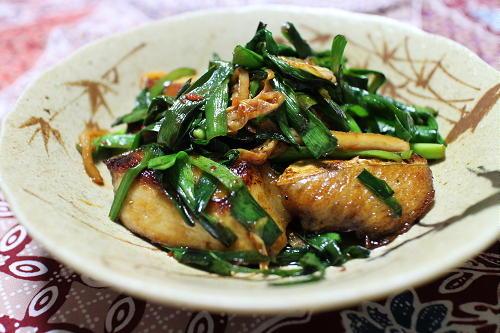 今日のキムチ料理レシピ:ぶりのにらキムチ焼き