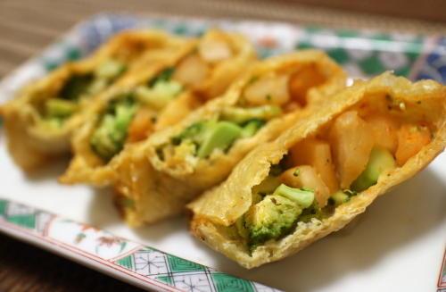 今日のキムチレシピ:大根キムチとブロッコリーの包み焼き