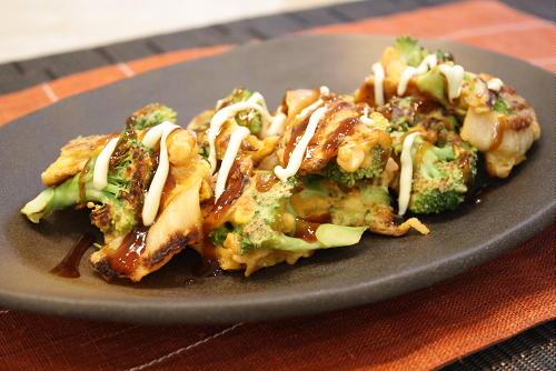 今日のキムチ料理レシピ:ブロッコリーとキムチの一口焼き