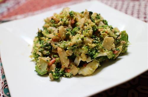 今日のキムチレシピ:ブロッコリーと卵のキムチサラダ