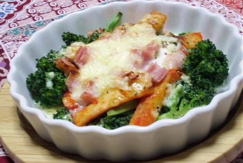 ブロッコリーと大根キムチの卵焼きレシピ