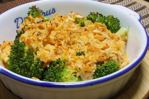 今日のキムチ料理レシピ:ブロッコリーのツナキムチ焼き