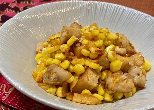 今日のキムチレシピ:豚肉とコーンの大根キムチ炒め
