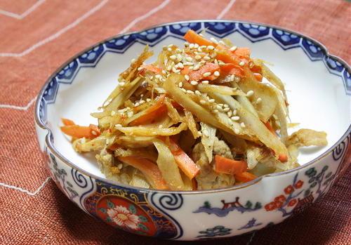 今日のキムチ料理レシピ:豚ごぼうピリ辛きんぴら