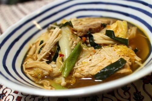 今日のキムチ料理レシピ:豚肉と白菜のピリ辛煮