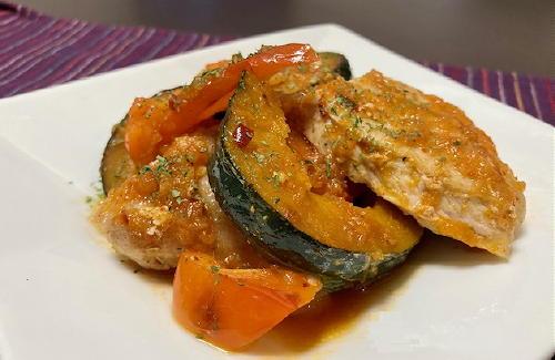 今日のキムチレシピ:豚肉とかぼちゃのピリ辛マリネ