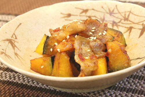 豚肉とかぼちゃのキムマヨ炒めレシピ