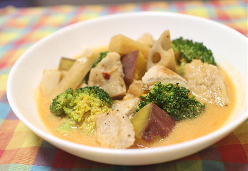 今日のキムチレシピ:豚肉と根菜の大根キムチ豆乳味噌スープ