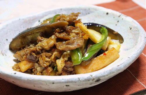 今日のキムチ料理レシピ:生姜風味の茄子と豚肉のキムチ焼き