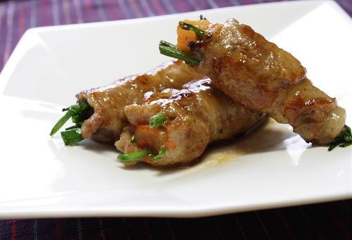 豚肉の大根キムチ巻き:レシピ