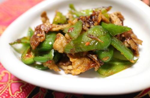 今日のキムチ料理レシピ:ピーマンと豚肉のピリ辛炒め