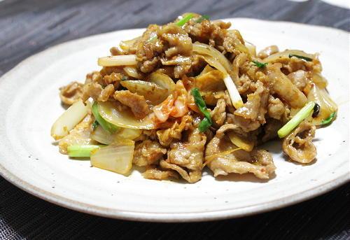 今日のキムチ料理レシピ:豚肉とキムチの醤油麹炒め