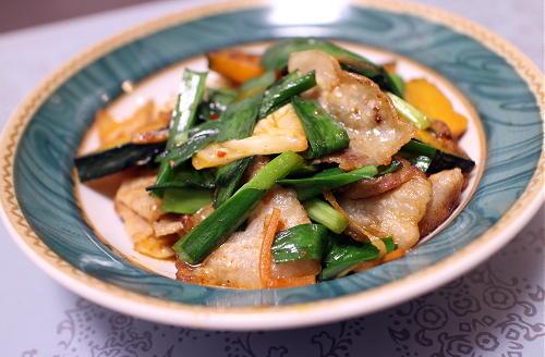 今日のキムチレシピ:豚バラかぼちゃとキムチの醤油炒め